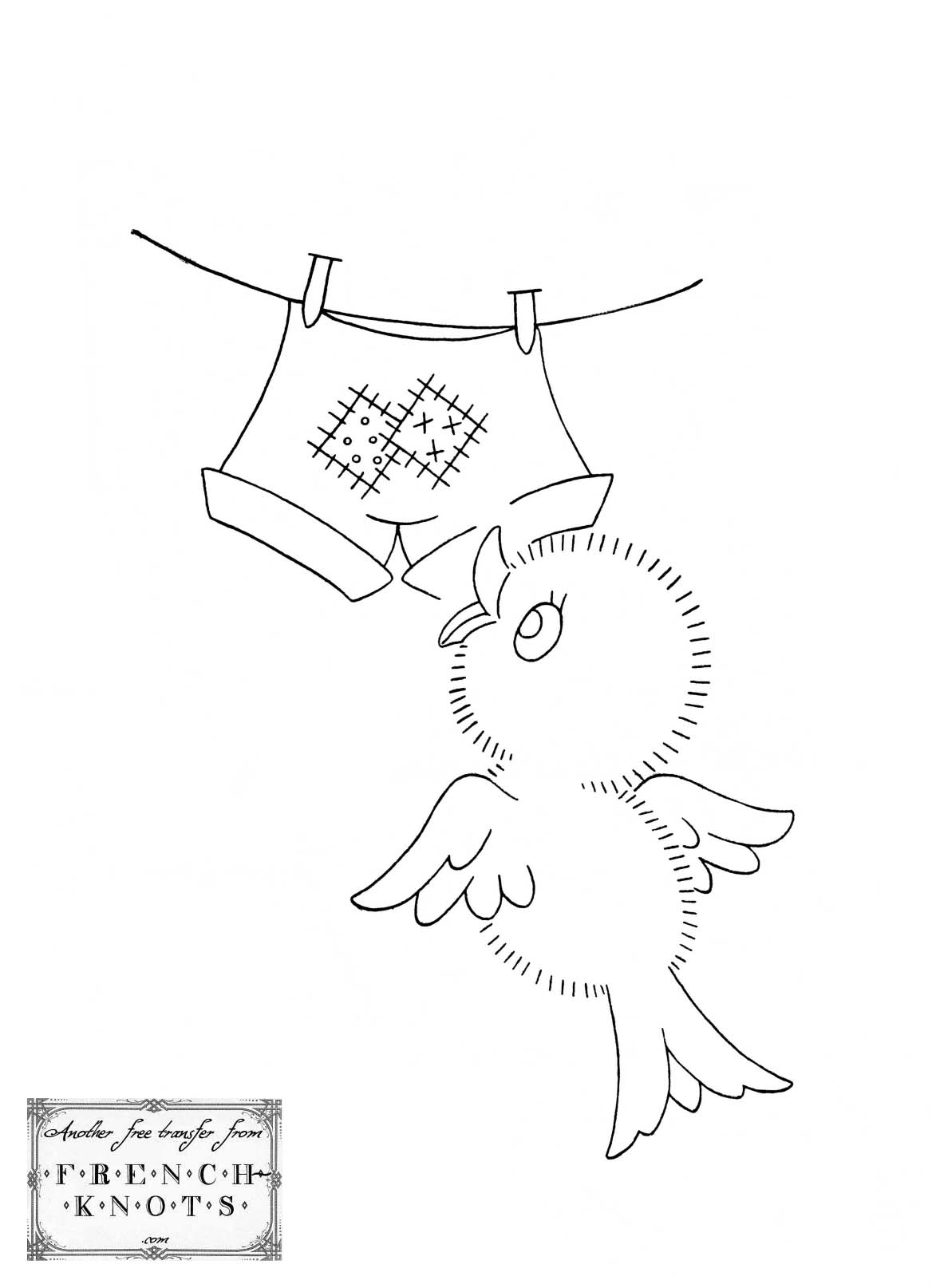chick days of the week embroidery patterns