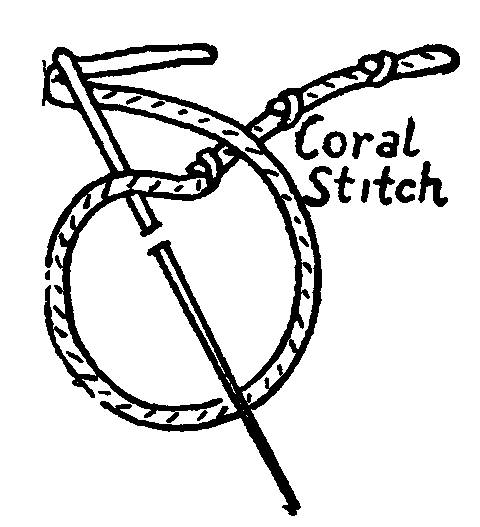 coral stitch embroidery