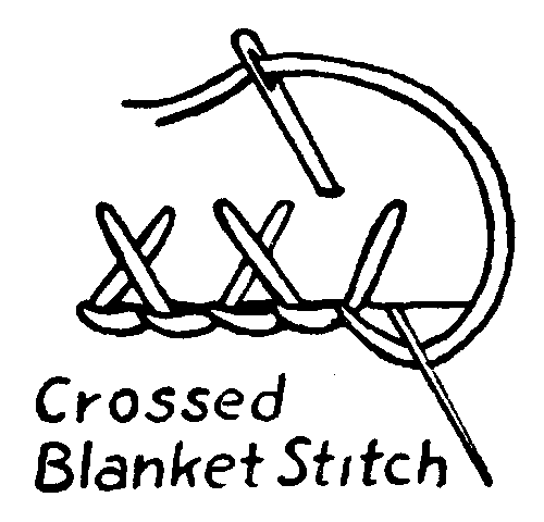 crossed blanket stitch embroidery