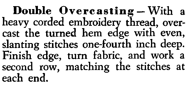 double overcast embroidery stitch