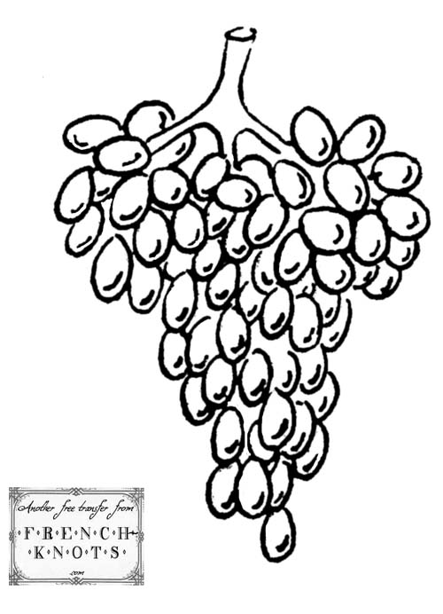 grapes embroidery pattern