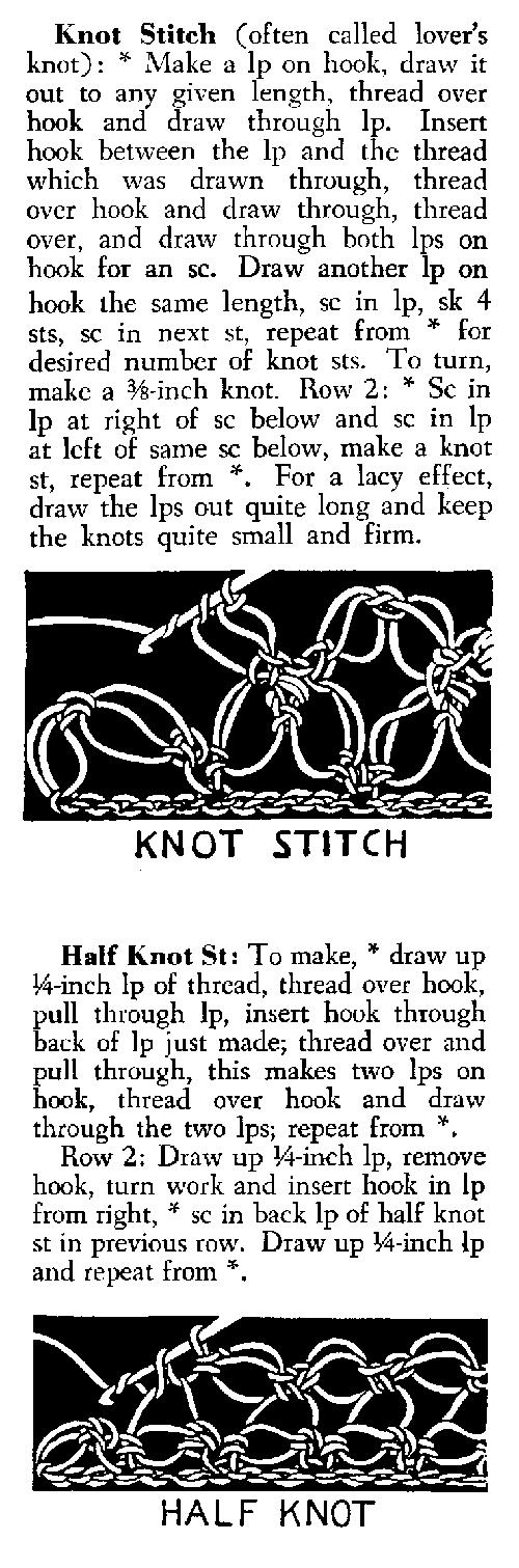 Knot crochet stitch