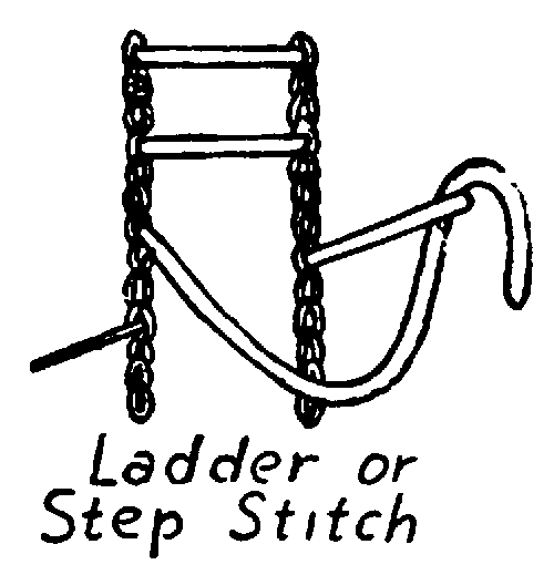 ladder or step stitch embroidery