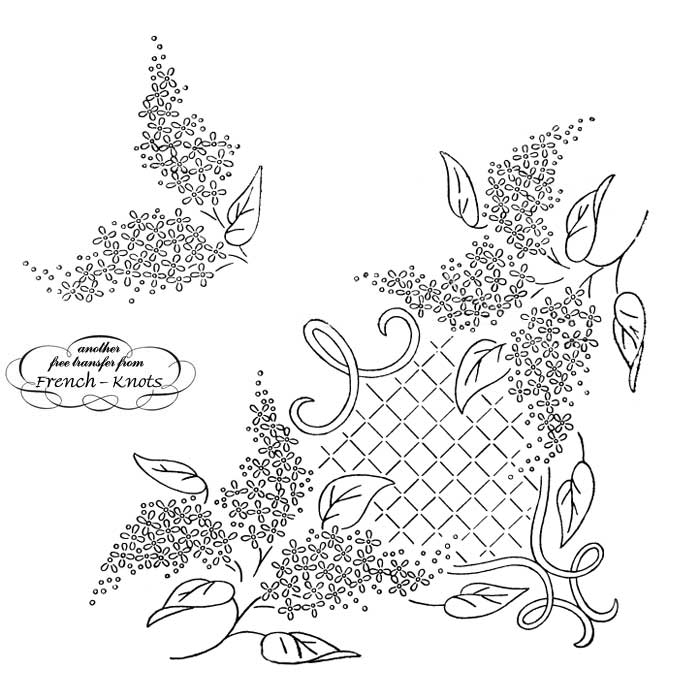 lilac corner embroidery pattern