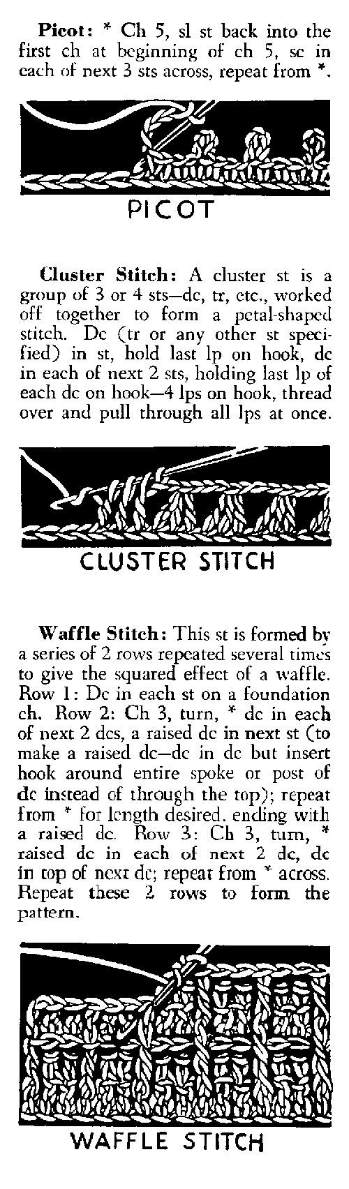 picot crochet stitch