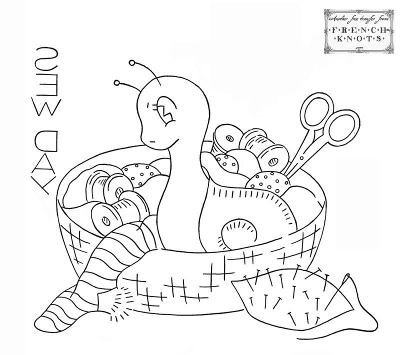 snail embroidery trnasfer