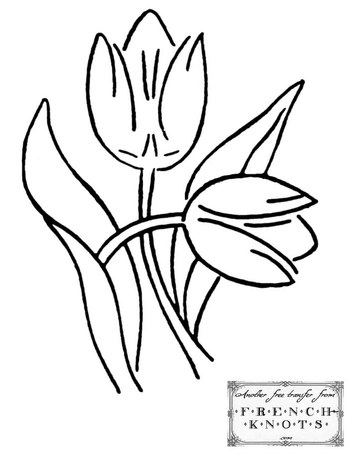tulips embroidery pattern
