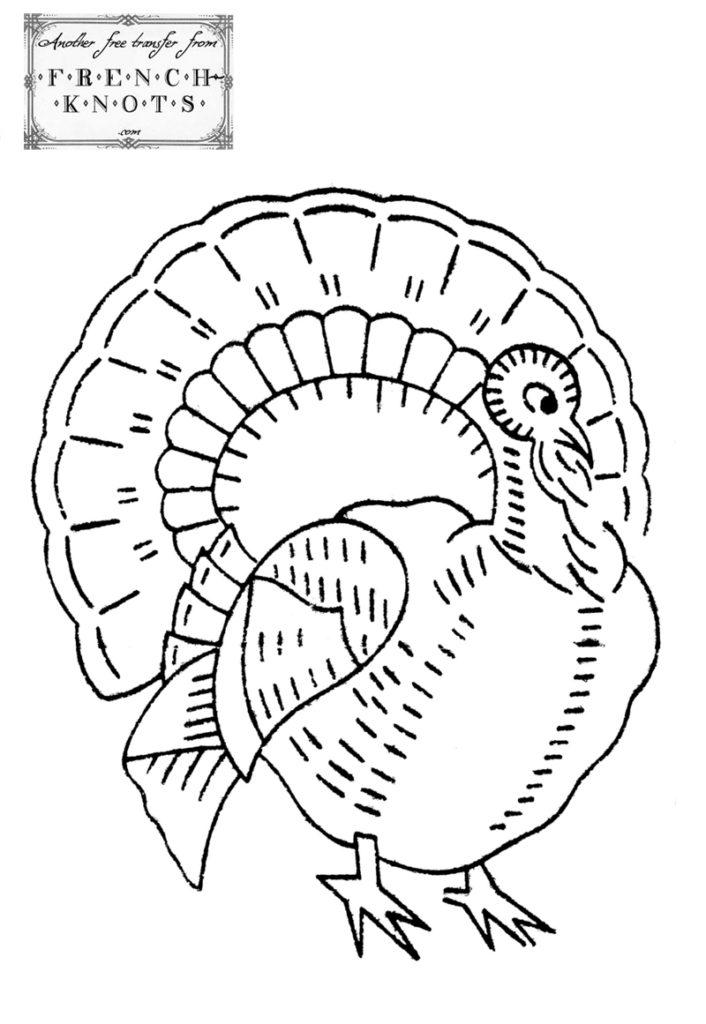 turkey embroidery pattern