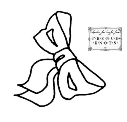 bow embroidery pattern