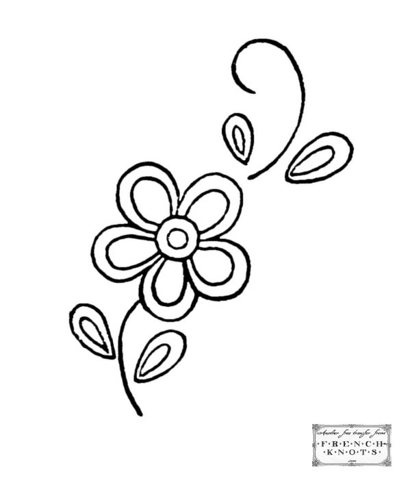 flower sprig embroidery pattern