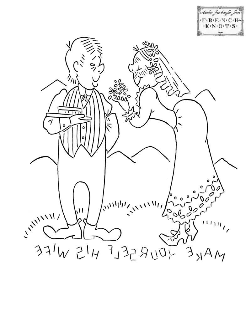 hillbilly romance embroidery pattern