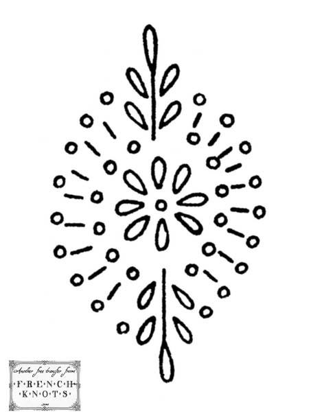 single motif embroidery pattern
