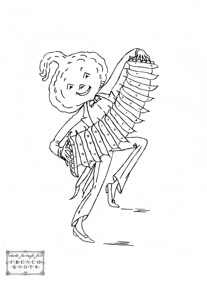 squash accordian player embroidery pattern