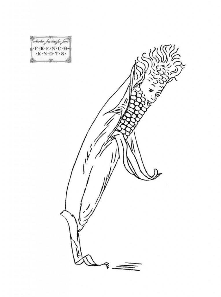 corn embroidery