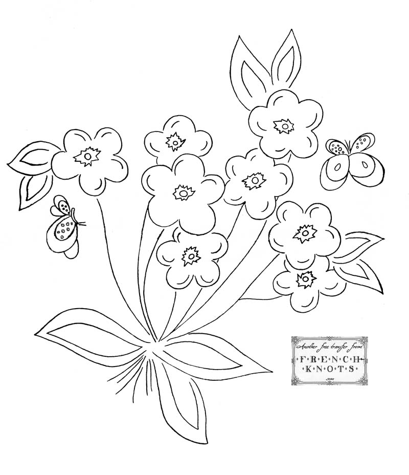 flower bouquet embroidery pattern