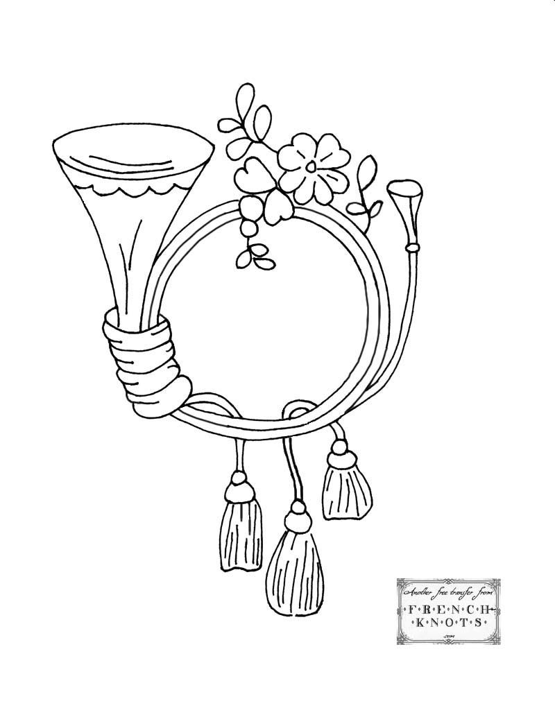 monogram frame embroidery pattern