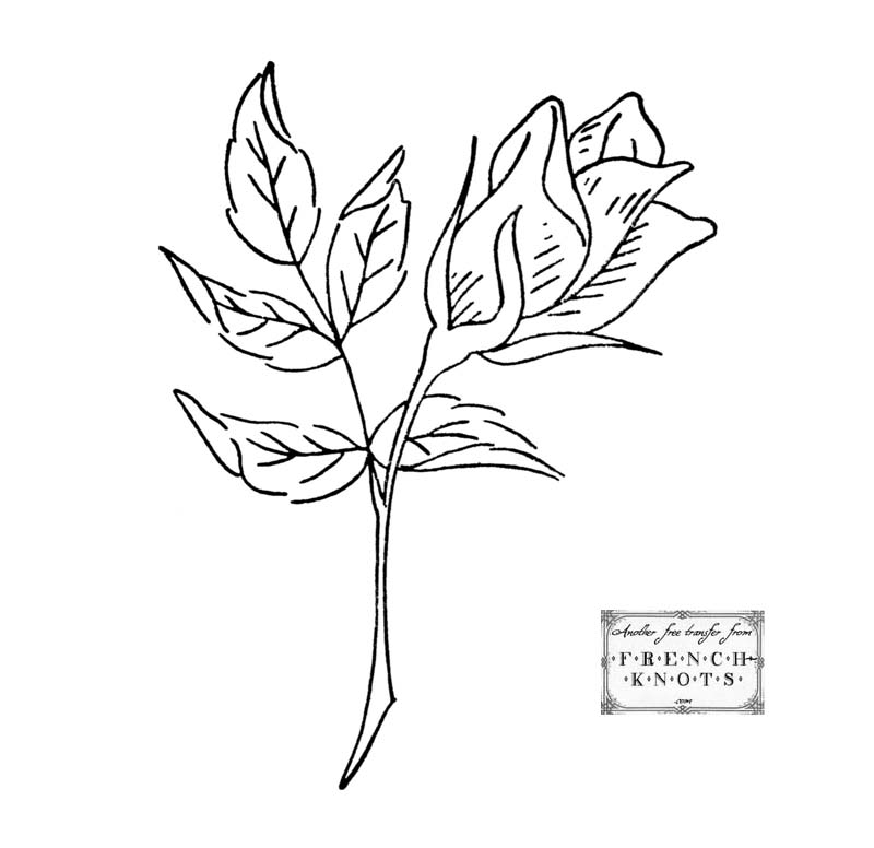 rosebud embroidery pattern