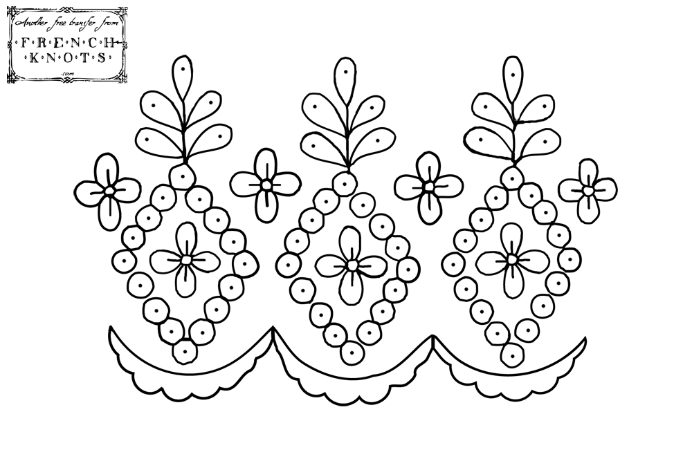 scallop edging embroidery pattern