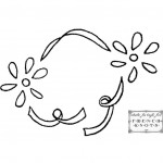 ribbon flower frame embroidery pattern