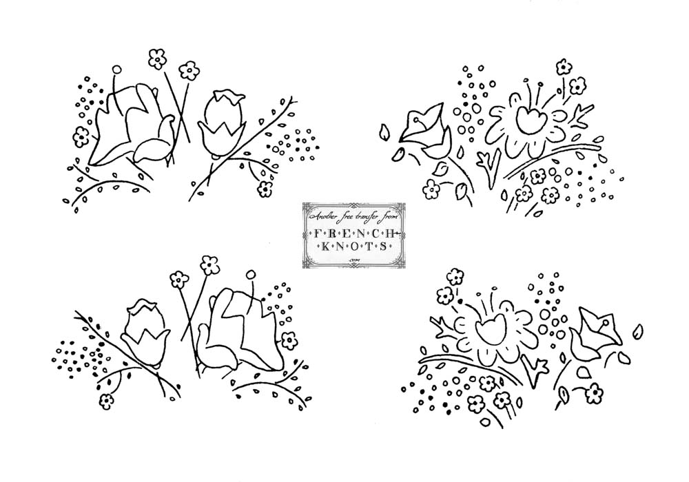 flower sprigs embroidery pattern