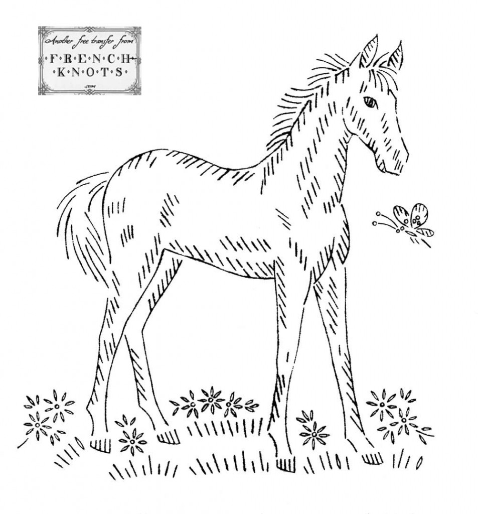 pony embroidery transfer