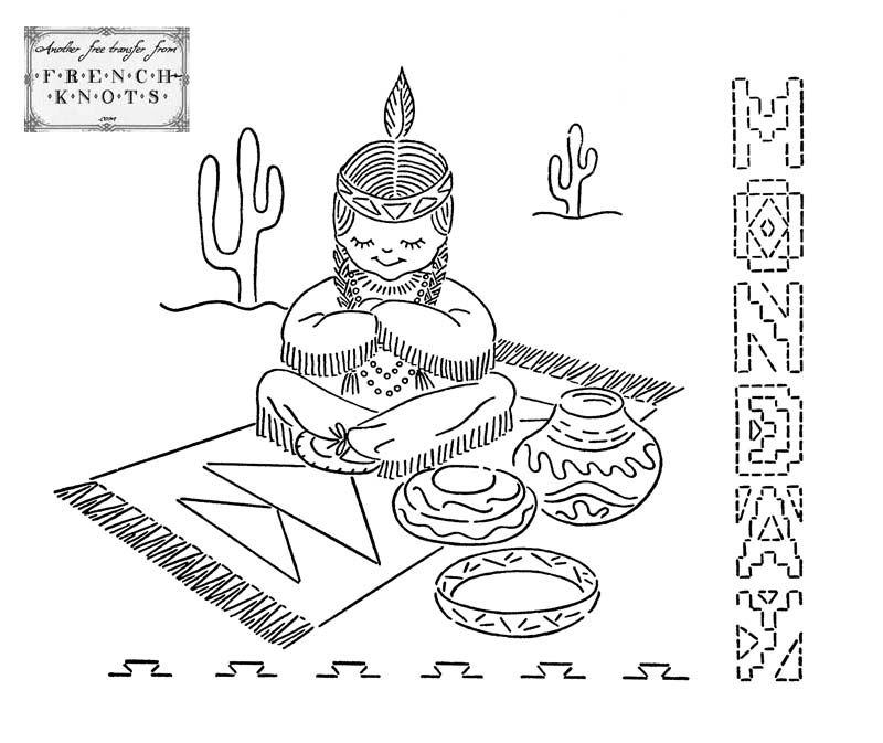 indian embroidery transfer