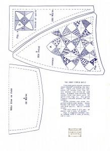 vintage circle quilting pattern