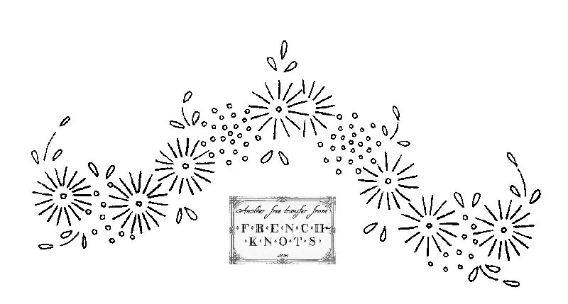 daisy border embroidery pattern