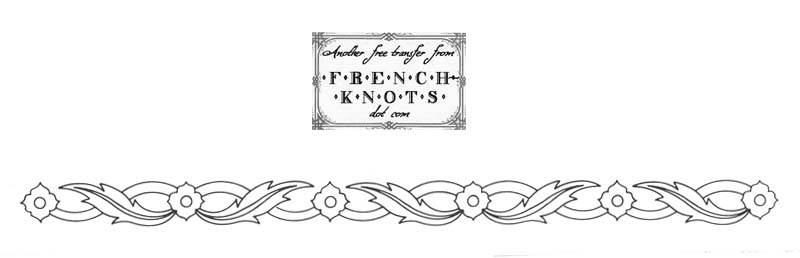 floral edging embroidery pattern