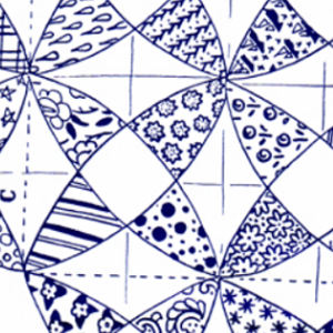 kaleidoscope quilting pattern