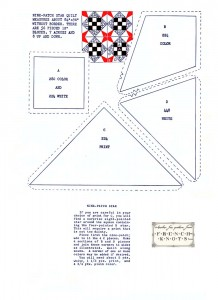 nine patch star quilting pattern