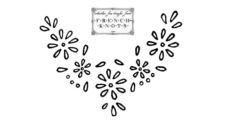 daisy embroidery transfer pattern