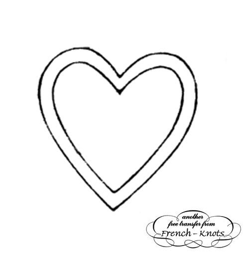 heart applique pattern