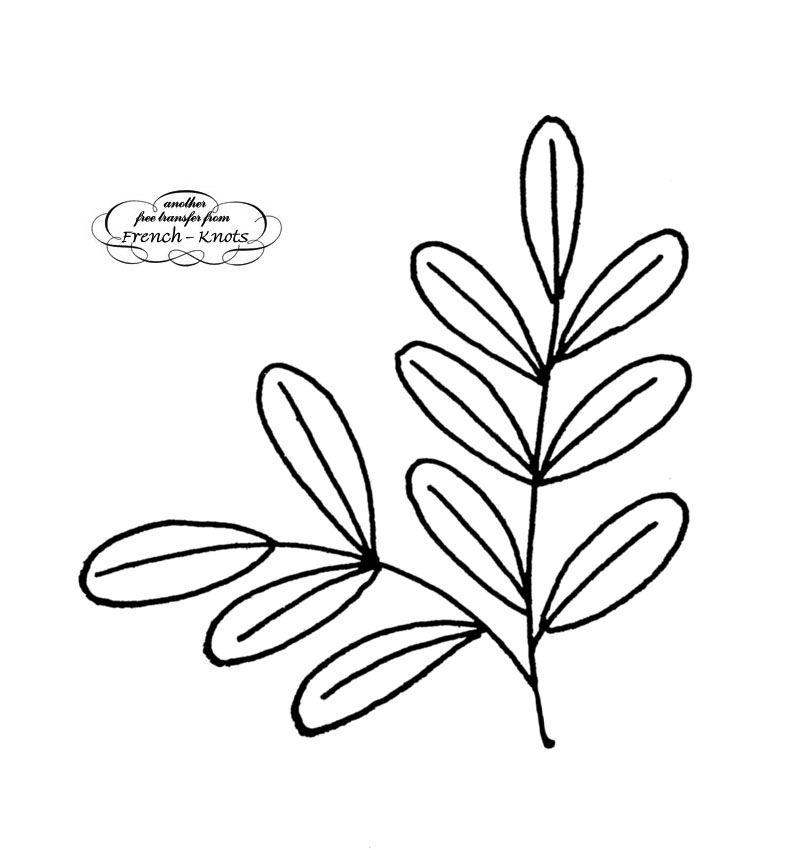 leaves embroidery pattern