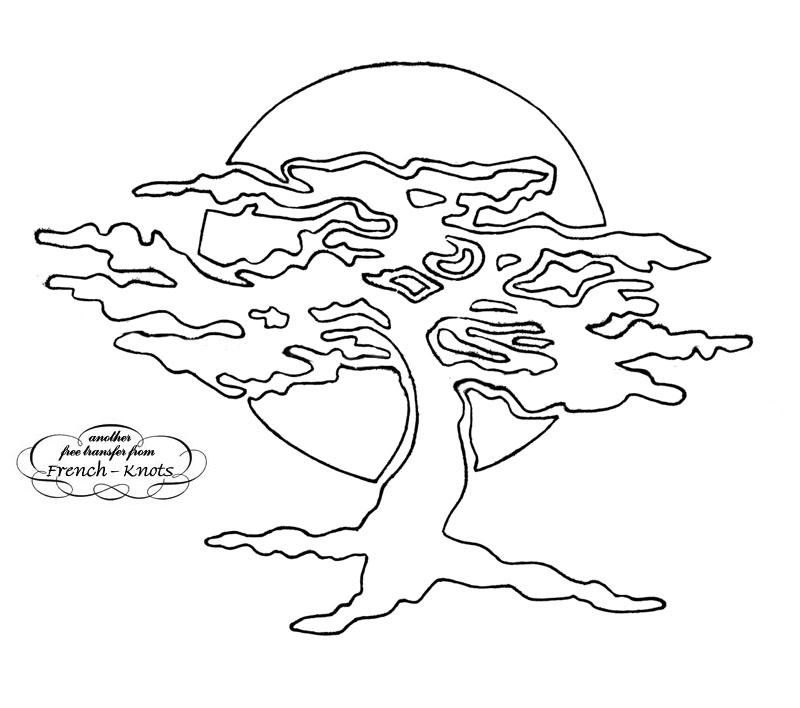 tree applique pattern