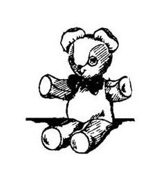 vintage teddy bear toy pattern