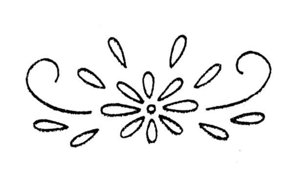 simple daisy motif embroidery transfer