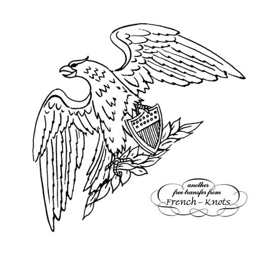 American eagle embroidery pattern