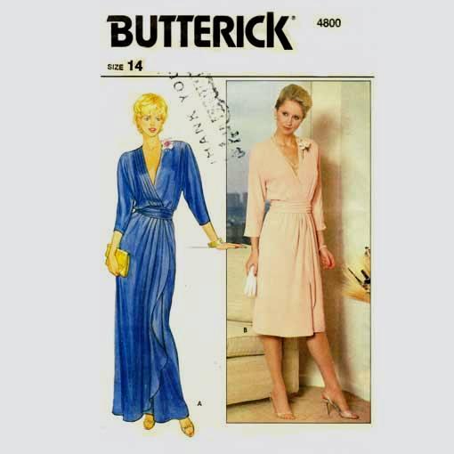 Butterick 4800 wrap dress pattern