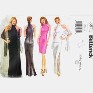 Butterick 6871 evening dress pattern