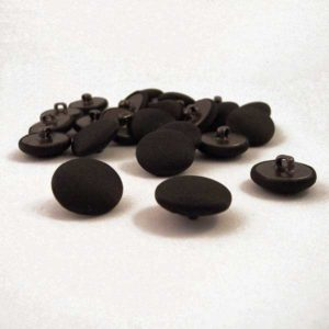 black satin fabric buttons