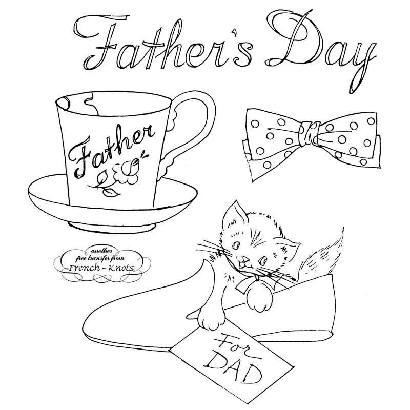 father's day embroidery pattern