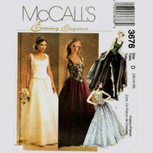 McCalls 3676 evening dress pattern