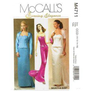 McCalls 4711 evening dress pattern