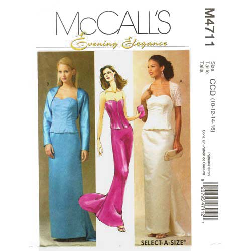 McCalls 4711 evening dress pattern
