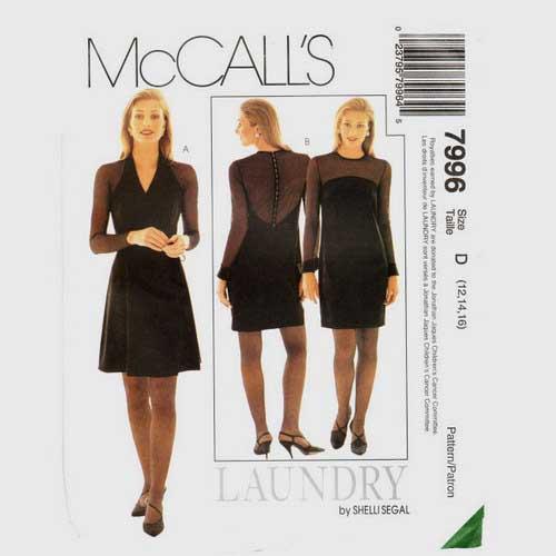 McCalls 7996 evening dress pattern