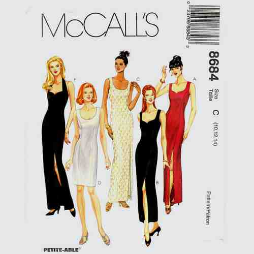 McCalls 8684 evening dress sewing pattern