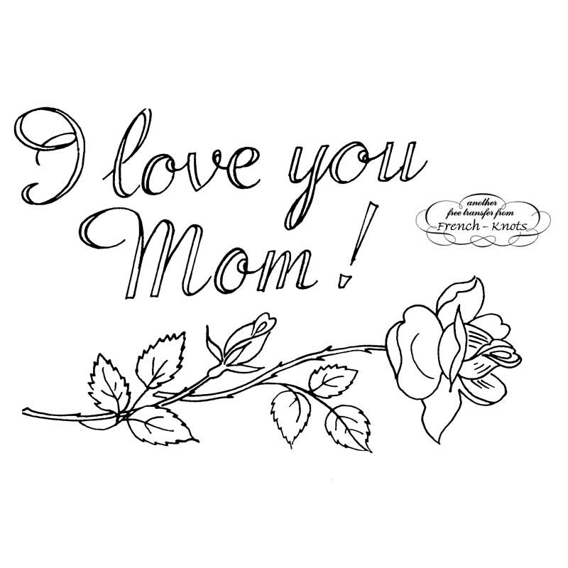 Mother's Day Love embroidery pattern