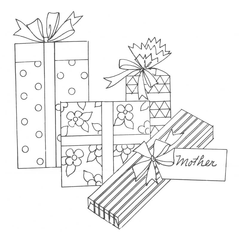Mother's Day gifts embroidery pattern