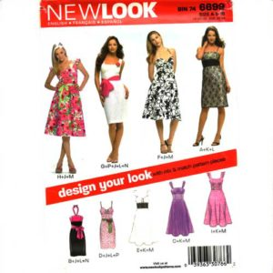 New Look 6699 strappy dress pattern